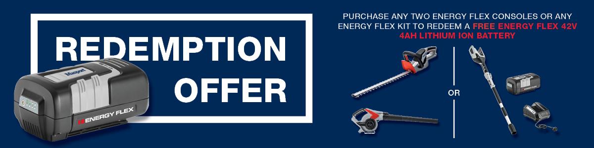 2019 Energy Flex Redemption Offer Banner