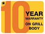 10 year warranty on this barbecue's grill body