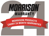 24 month warranty on Morrison products