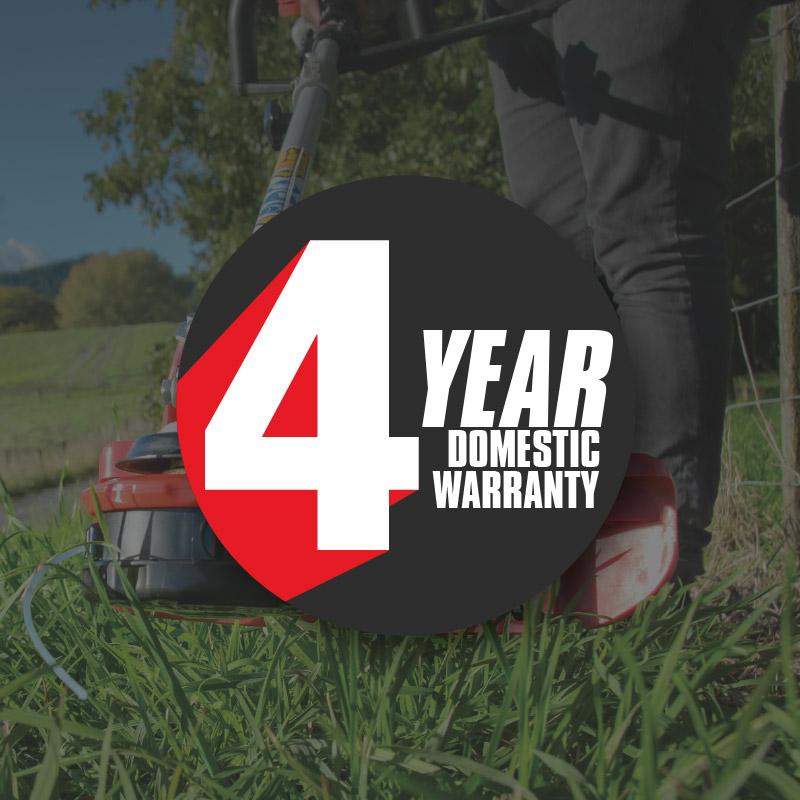 4 Year Domestic Warranty