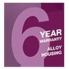 6 Year Alloy Housing Warranty