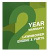 2 Year Lawnmower Engine & Parts Warranty