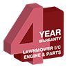 4 Year Lawnmower I/C Engine & Parts Warranty
