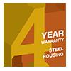 4 Year Steel Housing Warranty