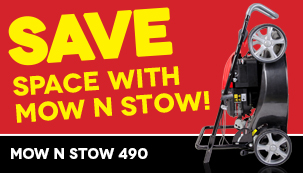 Save SPACE - Mow N Stow!
